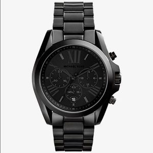 Michael Kors all black Bradshaw watch